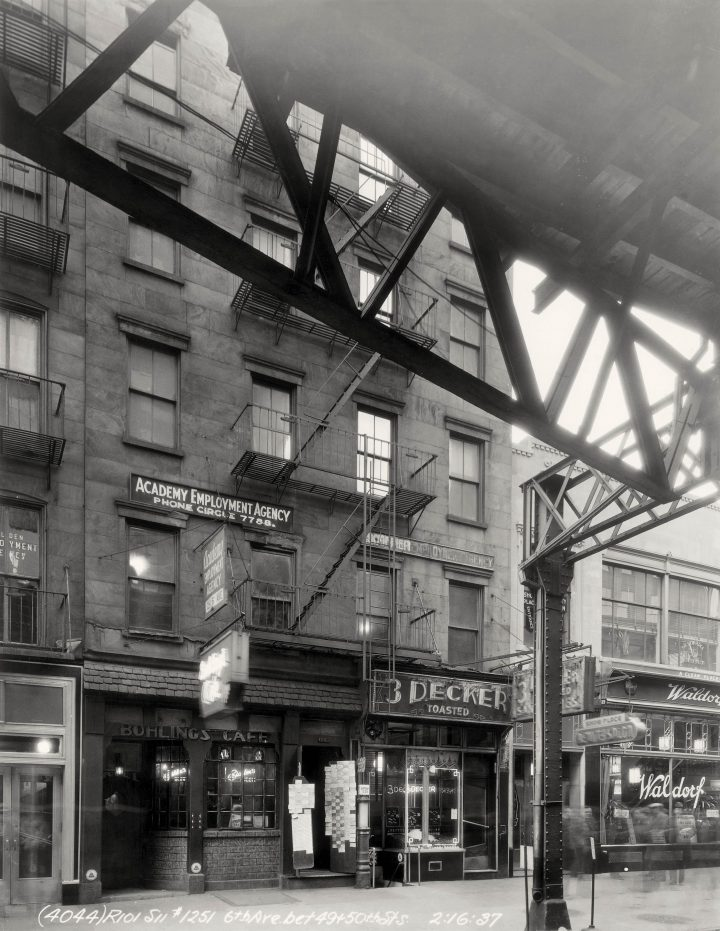 Vp 2383 Walthercollection Unidentifiedphotographer Storefrontsalong6Thavenue 1936 37 W22