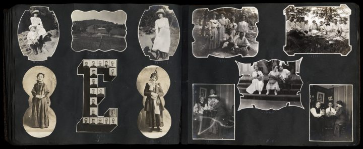VP 4185.01ex WaltherCollection SaraHooffstetter Shaped Family Album ca1908-16